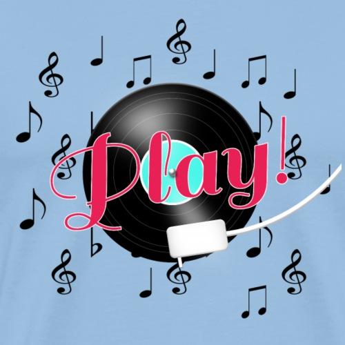 LP draaitafel play - Mannen Premium T-shirt