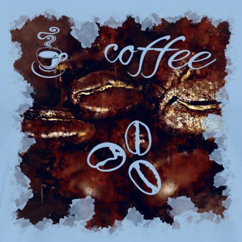 gxp große Kaffeebohnen Spritzer Wasserfarbe - Männer Premium T-Shirt
