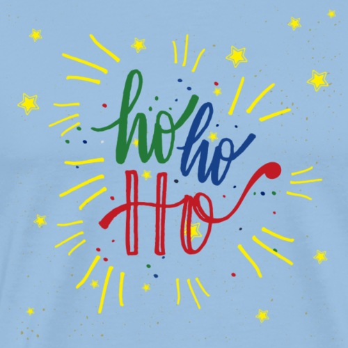 Ho Ho Ho Decorado - Camiseta premium hombre