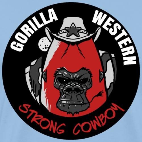 Gorilla CowBoy - T-shirt Premium Homme
