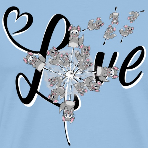 LOVE Chinchilla Pusteblume - Männer Premium T-Shirt