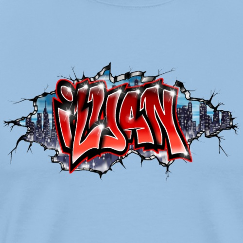 Ilyan graffiti Name By Max le Tagueur - T-shirt Premium Homme