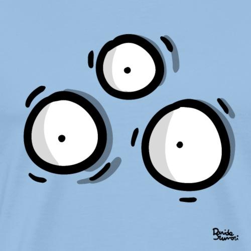 Alieno occhi - minimalista - Maglietta Premium da uomo