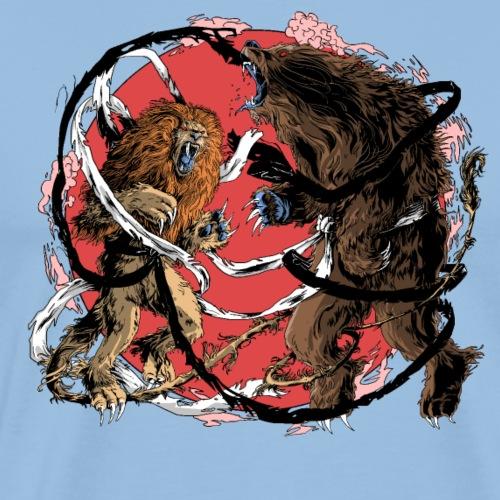 Lion Vs Ours - T-shirt Premium Homme