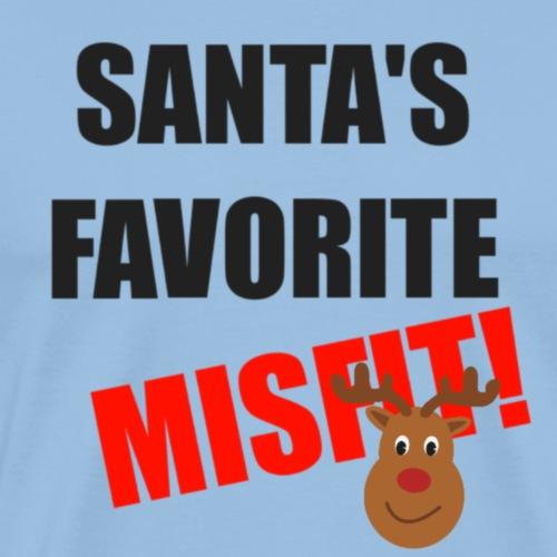 Santa's Favorite Misfit - Mannen Premium T-shirt