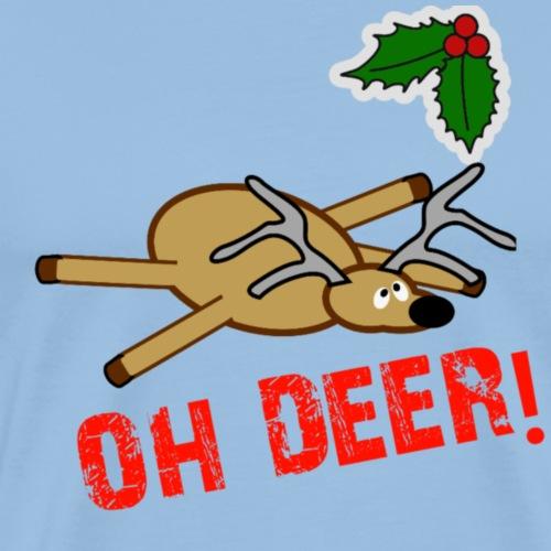 Oh Deer 2 - Mannen Premium T-shirt
