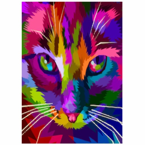 cat colors - Mannen Premium T-shirt