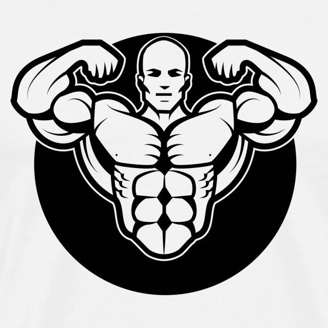 Black Body Builder In The Gym