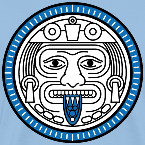 Visage Calendrier Maya Bleu - T-shirt Premium Homme