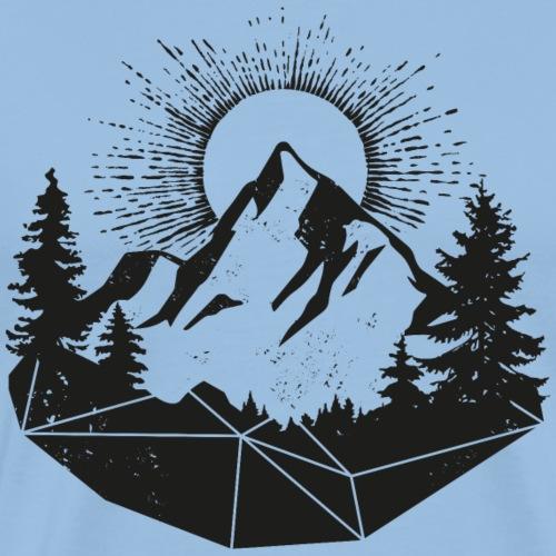 mointain sun grunge facemask gesichtsmaske - Männer Premium T-Shirt