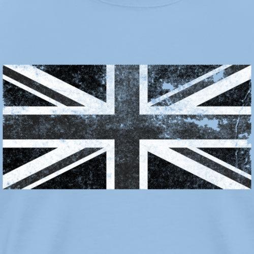 Black Union Jack distressed vintage retro flag - Men's Premium T-Shirt