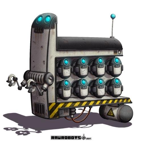 The S.T.A.F.F. Robot! - Herre premium T-shirt