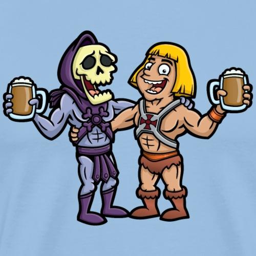 He-Man and Skeletor Beer Buddies - Men's Premium T-Shirt