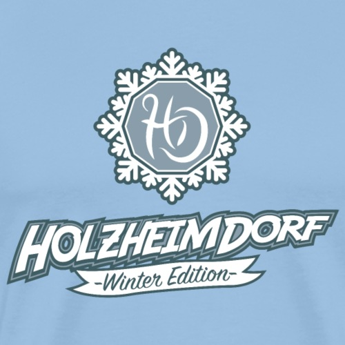 HolzheimDorf Winter Edition Logo & Icon - Männer Premium T-Shirt