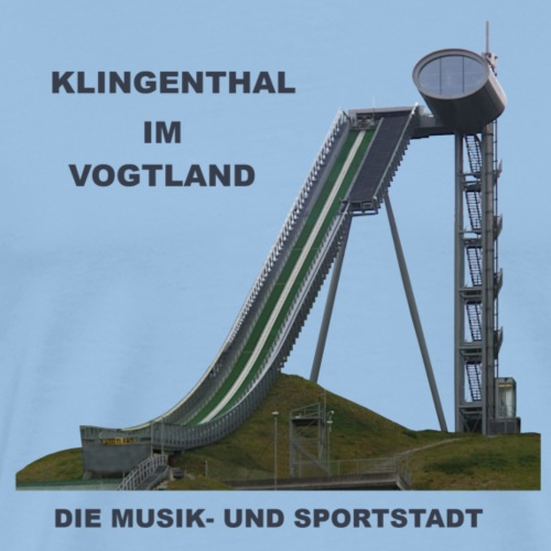 Klingenthal Vogtland Schanze Arena Sparkasse Ski - Männer Premium T-Shirt