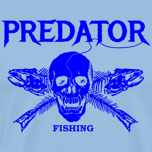 Predator fishing blue - Männer Premium T-Shirt