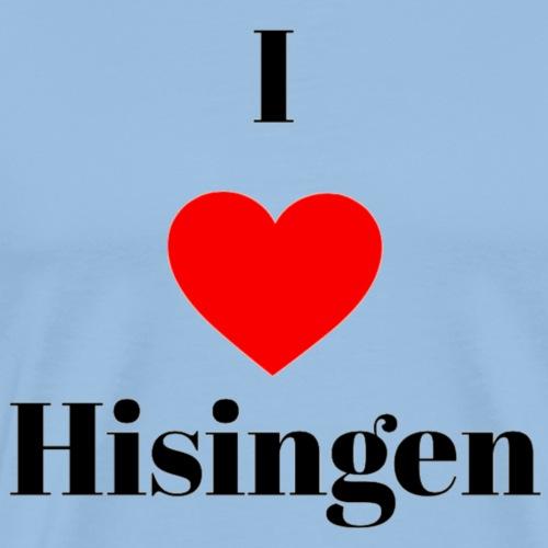 I love Hisingen - Premium-T-shirt herr