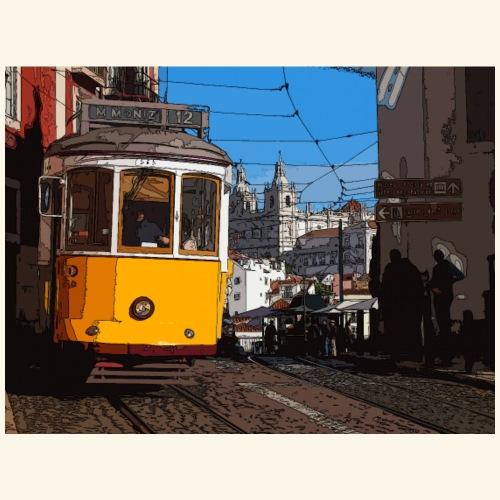 Tram a Lisbona - Maglietta Premium da uomo