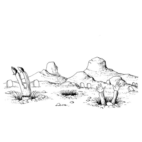 Hole landscape - T-shirt Premium Homme