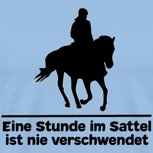 Pferd Pferdesprüche T-Shirt Pferdespruch Reiten - Männer Premium T-Shirt