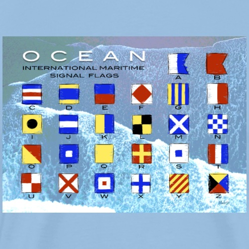 Ocean International Code Sea Flag, Marine Clothes - Miesten premium t-paita