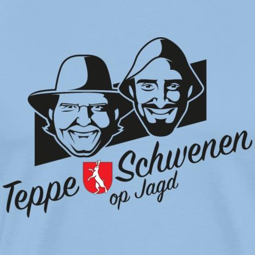 Teppe und Schwenen op Jagd - Männer Premium T-Shirt