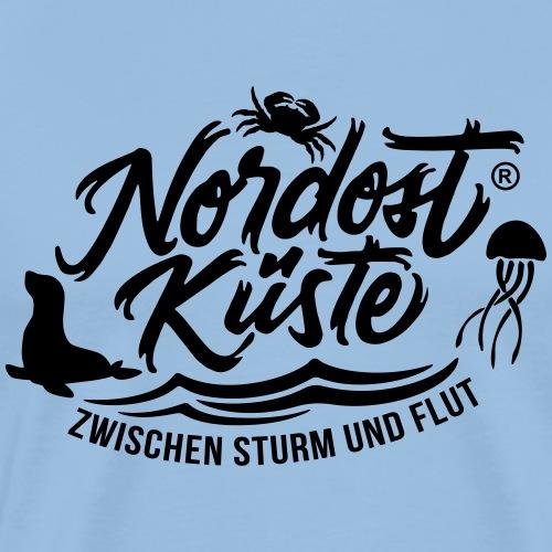 Nordost Küste Logo #11 - Männer Premium T-Shirt