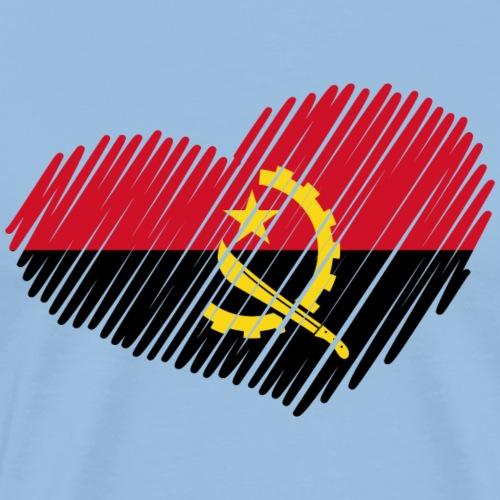 coeur angola drapeau - T-shirt Premium Homme