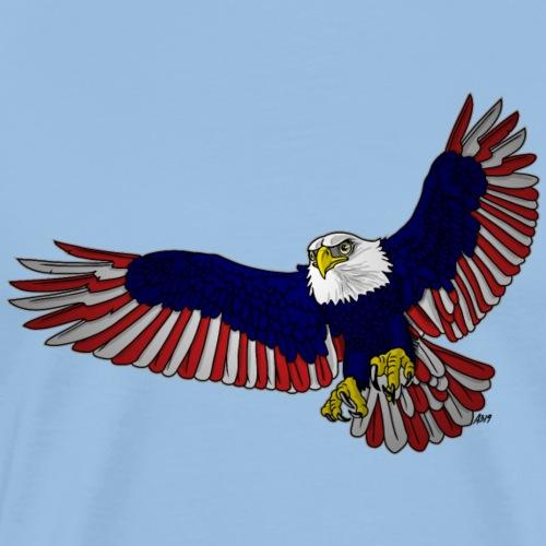BaldEagle American flag - Mannen Premium T-shirt