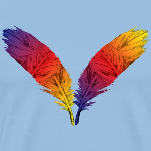 Color Feather - Men's Premium T-Shirt