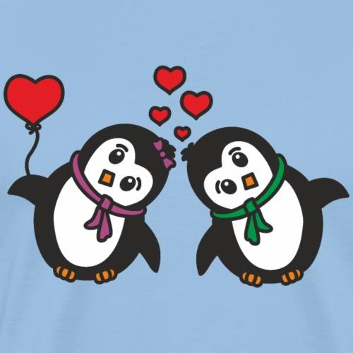 Pinguin Paar - Männer Premium T-Shirt