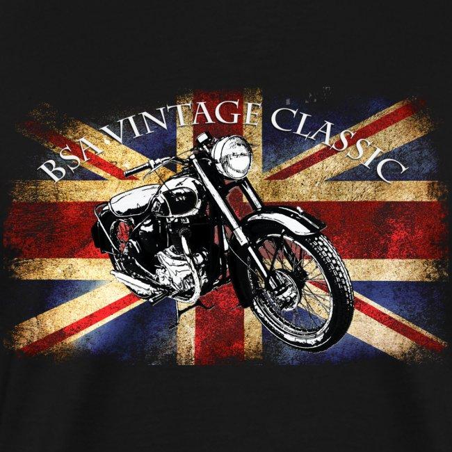 Vintage famous Brittish BSA motorcycle icon