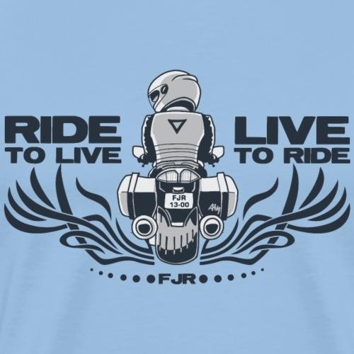 0852 fjr live2ride ride2live duo - Mannen Premium T-shirt
