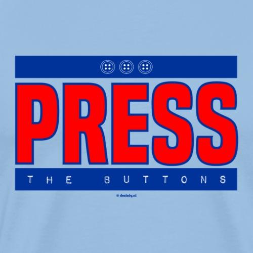 Press the buttons - Mannen Premium T-shirt
