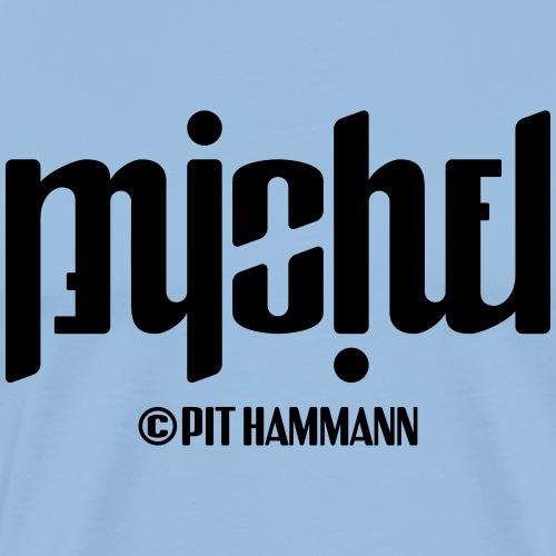 Ambigramm Michel 01 Pit Hammann - Männer Premium T-Shirt