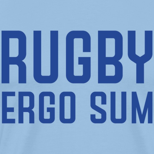 Marplo RugbyergosUM BLU - Maglietta Premium da uomo