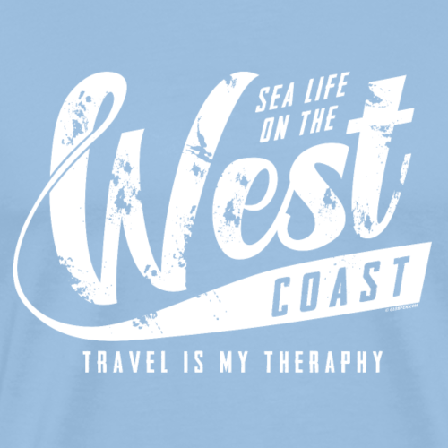 West Coast Sea surf clothes and gifts GP1306A - Miesten premium t-paita