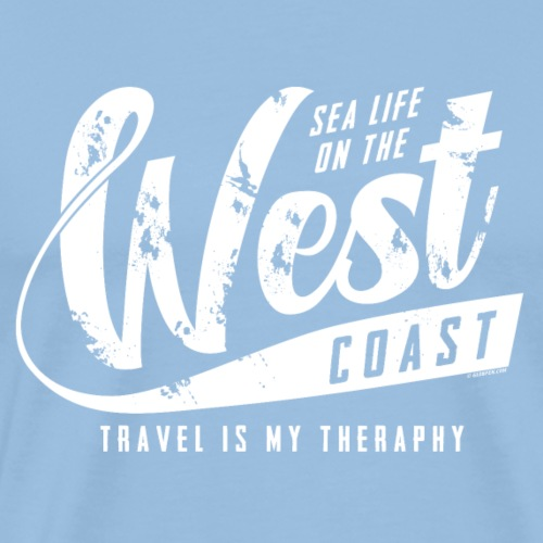 West Coast Sea Surfer Textiles, Gifts, Products - Miesten premium t-paita