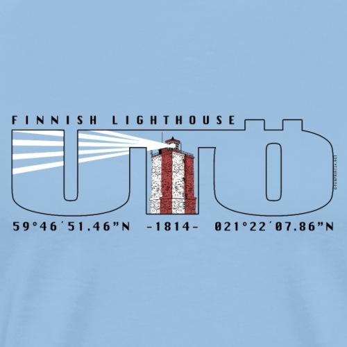 UTÖ MAJAKKASAARI Merelliset tekstiilit ja lahjat - Miesten premium t-paita