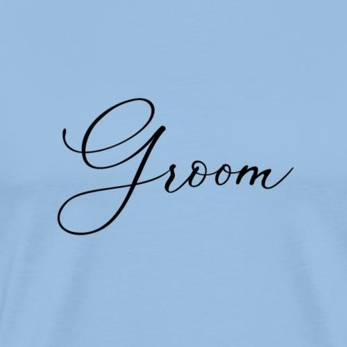 Groom - Face Mask - Men's Premium T-Shirt