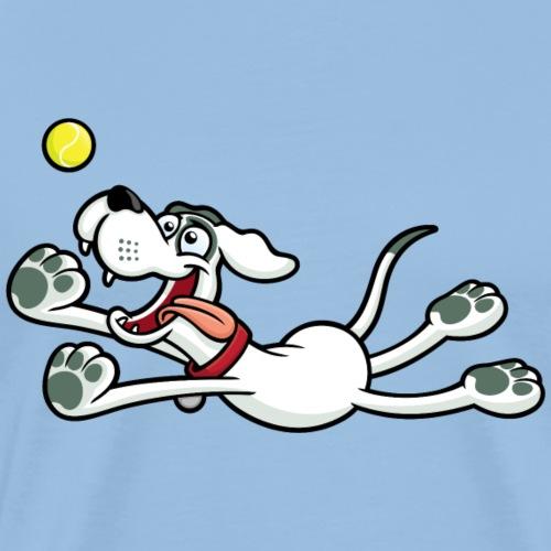 Dog Chasing Ball - Men's Premium T-Shirt
