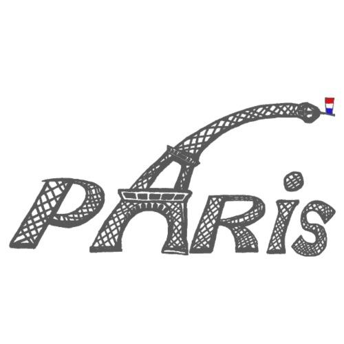 Paris gris fonce - T-shirt Premium Homme