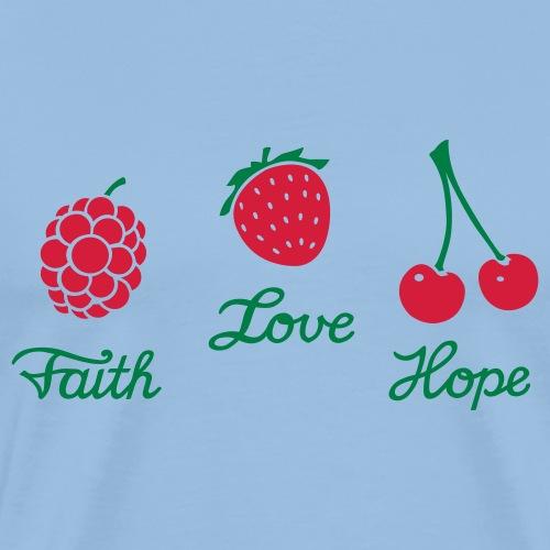 faith, love, hope - Männer Premium T-Shirt