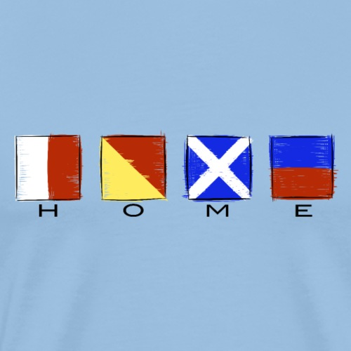 Home, International Code Sea Flag, Sea clothes etc - Miesten premium t-paita