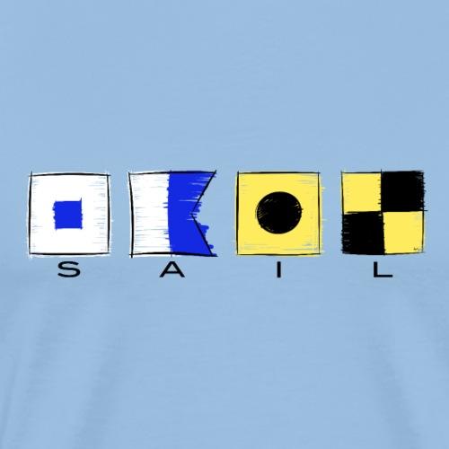 SaiI International Code Sea Flags, Marine Clothes - Miesten premium t-paita