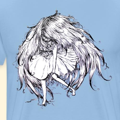 FacelessGirl flottante - T-shirt Premium Homme