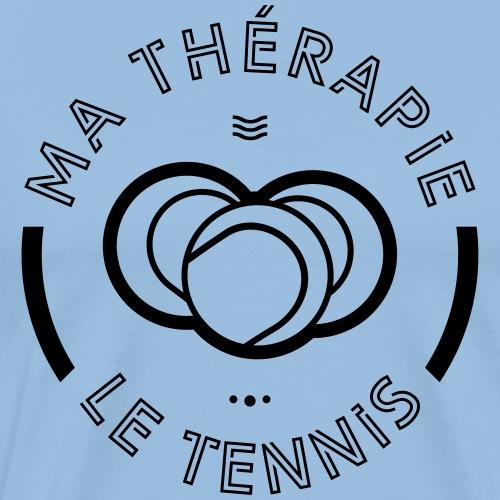 Le tennis ma thérapie - T-shirt Premium Homme