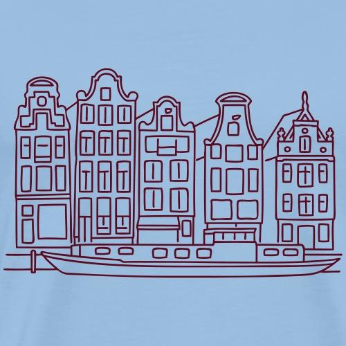 Amsterdam Grachtenhäuser - Männer Premium T-Shirt