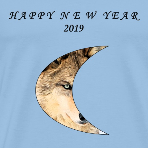 Wolf Happy - Männer Premium T-Shirt