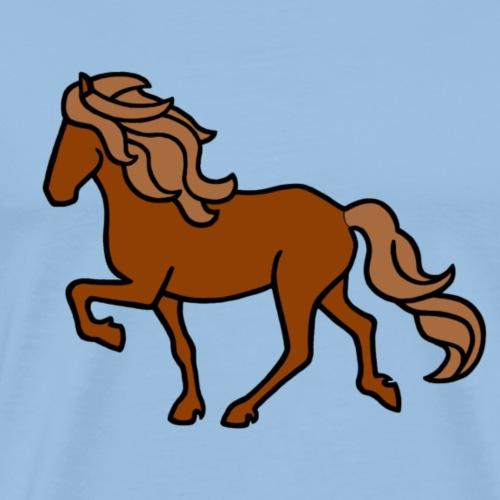Islandpferd, Fuchs - Männer Premium T-Shirt